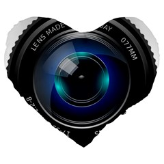 Camera Lens Prime Photography Large 19  Premium Heart Shape Cushions by BangZart