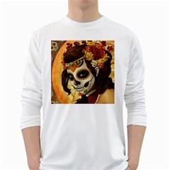 Fantasy Girl Art White Long Sleeve T Shirts