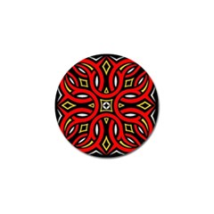 Traditional Art Pattern Golf Ball Marker