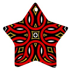 Traditional Art Pattern Star Ornament (two Sides) by BangZart
