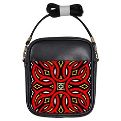 Traditional Art Pattern Girls Sling Bags by BangZart