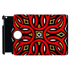 Traditional Art Pattern Apple Ipad 2 Flip 360 Case