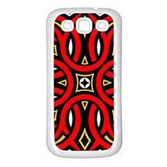 Traditional Art Pattern Samsung Galaxy S3 Back Case (white) by BangZart