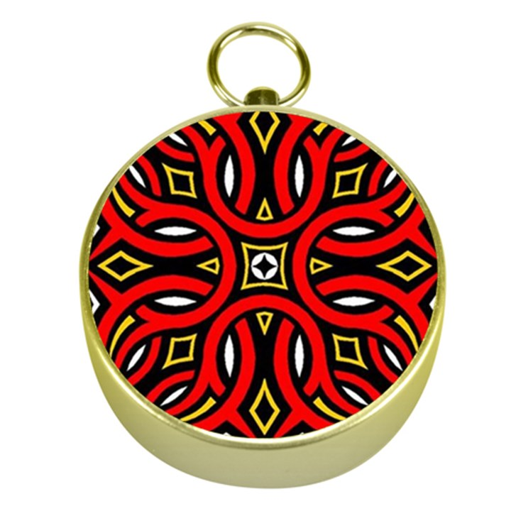Traditional Art Pattern Gold Compasses