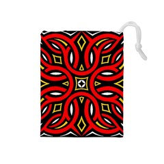 Traditional Art Pattern Drawstring Pouches (medium)  by BangZart