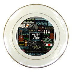 Book Quote Collage Porcelain Plates by BangZart