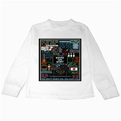 Book Quote Collage Kids Long Sleeve T Shirts by BangZart
