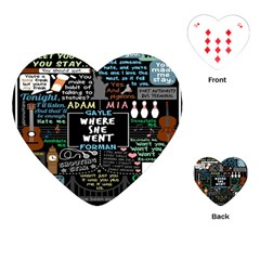 Book Quote Collage Playing Cards (heart)  by BangZart