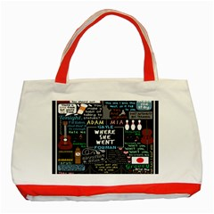 Book Quote Collage Classic Tote Bag (red) by BangZart