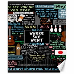 Book Quote Collage Canvas 16  X 20