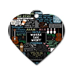Book Quote Collage Dog Tag Heart (one Side) by BangZart