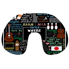 Book Quote Collage Travel Neck Pillows by BangZart