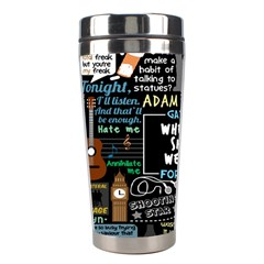 Book Quote Collage Stainless Steel Travel Tumblers by BangZart