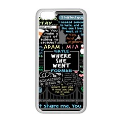 Book Quote Collage Apple Iphone 5c Seamless Case (white)