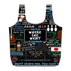 Book Quote Collage Full Print Recycle Bags (l)  by BangZart
