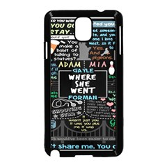 Book Quote Collage Samsung Galaxy Note 3 Neo Hardshell Case (black)