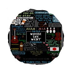 Book Quote Collage Standard 15  Premium Flano Round Cushions by BangZart