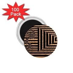 Wooden Pause Play Paws Abstract Oparton Line Roulette Spin 1 75  Magnets (100 Pack)  by BangZart