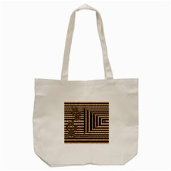 Wooden Pause Play Paws Abstract Oparton Line Roulette Spin Tote Bag (cream) by BangZart