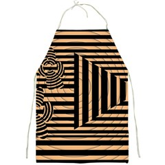 Wooden Pause Play Paws Abstract Oparton Line Roulette Spin Full Print Aprons by BangZart