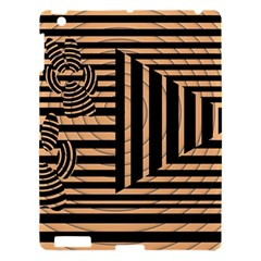 Wooden Pause Play Paws Abstract Oparton Line Roulette Spin Apple Ipad 3/4 Hardshell Case