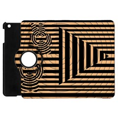 Wooden Pause Play Paws Abstract Oparton Line Roulette Spin Apple Ipad Mini Flip 360 Case by BangZart