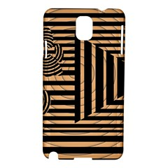 Wooden Pause Play Paws Abstract Oparton Line Roulette Spin Samsung Galaxy Note 3 N9005 Hardshell Case by BangZart