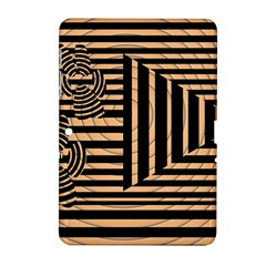 Wooden Pause Play Paws Abstract Oparton Line Roulette Spin Samsung Galaxy Tab 2 (10 1 ) P5100 Hardshell Case