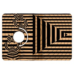 Wooden Pause Play Paws Abstract Oparton Line Roulette Spin Kindle Fire Hdx Flip 360 Case by BangZart