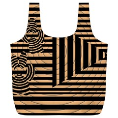Wooden Pause Play Paws Abstract Oparton Line Roulette Spin Full Print Recycle Bags (l)  by BangZart