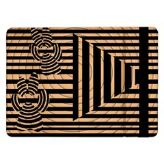Wooden Pause Play Paws Abstract Oparton Line Roulette Spin Samsung Galaxy Tab Pro 12 2  Flip Case by BangZart
