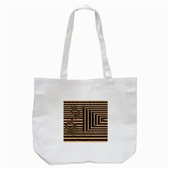 Wooden Pause Play Paws Abstract Oparton Line Roulette Spin Tote Bag (white) by BangZart