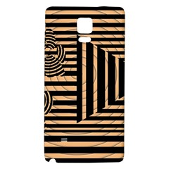 Wooden Pause Play Paws Abstract Oparton Line Roulette Spin Galaxy Note 4 Back Case by BangZart