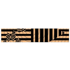 Wooden Pause Play Paws Abstract Oparton Line Roulette Spin Flano Scarf (small) by BangZart