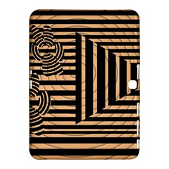 Wooden Pause Play Paws Abstract Oparton Line Roulette Spin Samsung Galaxy Tab 4 (10 1 ) Hardshell Case  by BangZart