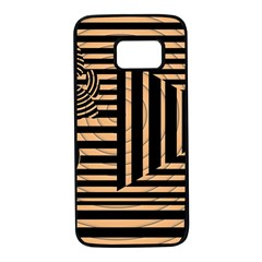 Wooden Pause Play Paws Abstract Oparton Line Roulette Spin Samsung Galaxy S7 Black Seamless Case by BangZart