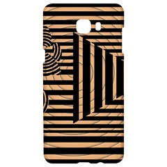 Wooden Pause Play Paws Abstract Oparton Line Roulette Spin Samsung C9 Pro Hardshell Case  by BangZart