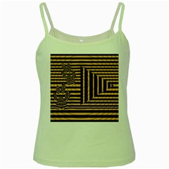 Wooden Pause Play Paws Abstract Oparton Line Roulette Spin Green Spaghetti Tank