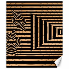 Wooden Pause Play Paws Abstract Oparton Line Roulette Spin Canvas 20  X 24