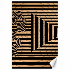 Wooden Pause Play Paws Abstract Oparton Line Roulette Spin Canvas 20  X 30