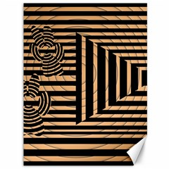 Wooden Pause Play Paws Abstract Oparton Line Roulette Spin Canvas 36  X 48