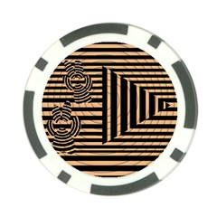 Wooden Pause Play Paws Abstract Oparton Line Roulette Spin Poker Chip Card Guard