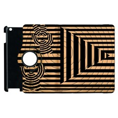 Wooden Pause Play Paws Abstract Oparton Line Roulette Spin Apple Ipad 3/4 Flip 360 Case by BangZart