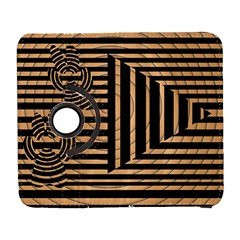 Wooden Pause Play Paws Abstract Oparton Line Roulette Spin Galaxy S3 (flip/folio) by BangZart