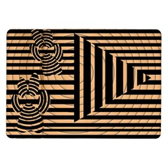 Wooden Pause Play Paws Abstract Oparton Line Roulette Spin Samsung Galaxy Tab 10 1  P7500 Flip Case