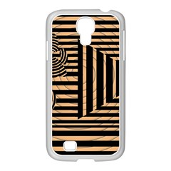 Wooden Pause Play Paws Abstract Oparton Line Roulette Spin Samsung Galaxy S4 I9500/ I9505 Case (white) by BangZart