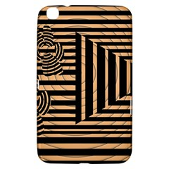 Wooden Pause Play Paws Abstract Oparton Line Roulette Spin Samsung Galaxy Tab 3 (8 ) T3100 Hardshell Case  by BangZart