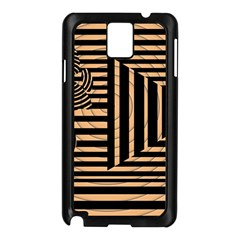 Wooden Pause Play Paws Abstract Oparton Line Roulette Spin Samsung Galaxy Note 3 N9005 Case (black)