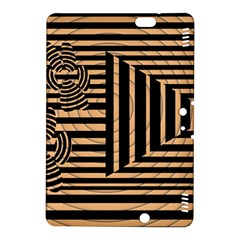 Wooden Pause Play Paws Abstract Oparton Line Roulette Spin Kindle Fire Hdx 8 9  Hardshell Case by BangZart