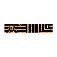 Wooden Pause Play Paws Abstract Oparton Line Roulette Spin Flano Scarf (mini) by BangZart